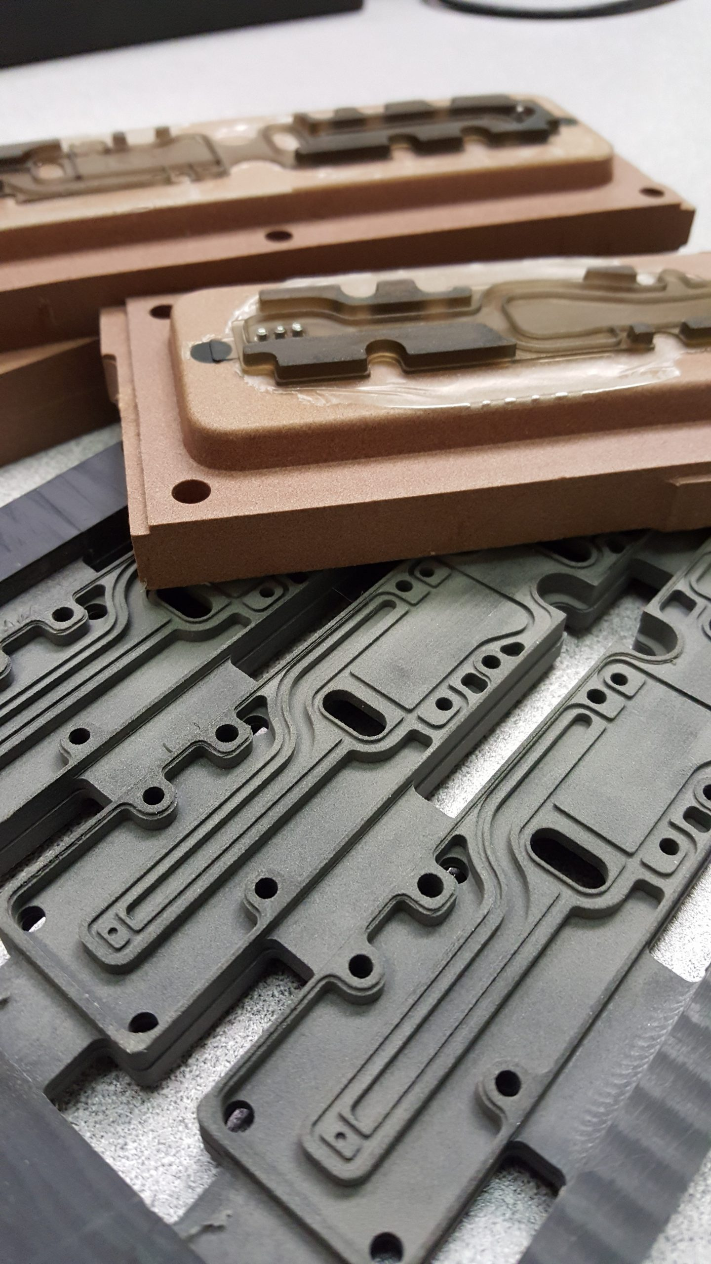 molded parts using rubber